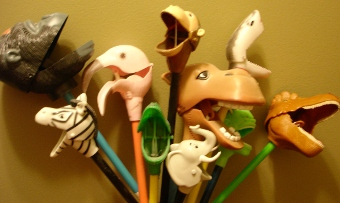 Animals. On a stick.
